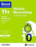 Bond 11+ 10 Minute Tests Verbal Reasoning 8-9 Years