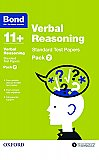 Bond 11+ Verbal Reasoning Standard Test Papers Pack 2