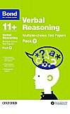 Bond 11+ Verbal Reasoning Multi Test Papers Pack 2
