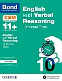 Bond - 11+ English & Verbal Reasoning: CEM 10 Minute Tests: 9-10 Years