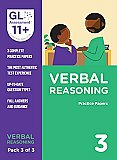 GL Assessment 11+ Practice Papers Verbal Reasoning Pack 3 (Multiple Choice)