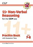 CGP - New 11+ CEM Non-Verbal Reasoning Practice Book & Assessment Tests - Ages 7-8 (with Online Edition)
