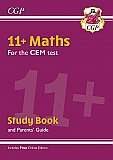 CGP - New 11+ CEM Maths Study Book (with Parents' Guide & Online Edition)
