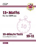 CGP - New 11+ CEM 10-Minute Tests: Maths - Ages 10-11 Book 1 (with Online Edition)