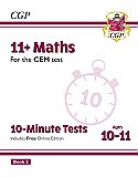 CGP - New 11+ CEM 10-Minute Tests: Maths - Ages 10-11 Book 2 (with Online Edition)