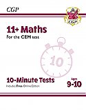 CGP - New 11+ CEM 10-Minute Tests: Maths - Ages 9-10 (with Online Edition)