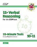 CGP - New 11+ CEM 10-Minute Tests: Verbal Reasoning - Ages 10-11 Book 1 (with Online Edition)
