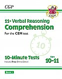 CGP - New 11+ CEM 10-Minute Tests: Comprehension - Ages 10-11 Book 1 (with Online Edition)