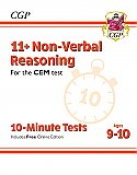 CGP - New 11+ CEM 10-Minute Tests: Non-Verbal Reasoning - Ages 9-10 (with Online Edition)