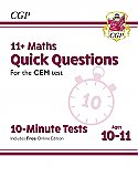 CGP - New 11+ CEM 10-Minute Tests: Maths Quick Questions - Ages 10-11 (with Online Edition)