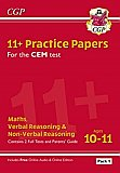 CGP - New 11+ CEM Practice Papers: Ages 10-11 - Pack 2 (with Parents' Guide & Online Edition)
