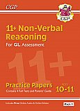 CGP - New 11+ GL Non-Verbal Reasoning Practice Papers: Ages 10-11 Pack 1 (inc Parents' Guide & Online Edition)
