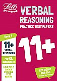 Letts 11+ Success - 11+ Verbal Reasoning Practice Test Papers - Multiple-Choice: for the GL Assessment Tests Book 1