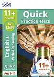 Letts - 11+ English And Verbal Reasoning Quick Practice Tests Age 9-10 for the CEM Tests [Not-Us]