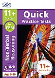 Letts - 11+ Non-Verbal Reasoning Quick Practice Tests Age 9-10 For The Cem Tests
