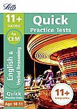Letts - 11+ English And Verbal Reasoning Quick Practice Tests Age 10-11 for the CEM Tests [Not-Us]
