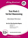 Athey Educational - 11 plus Test Pack 1 Verbal Reasoning Practice Papers Portfolio, Standard