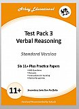 Athey Educational - 11 plus Test Pack 3 Verbal Reasoning Practice Papers Portfolio, Standard