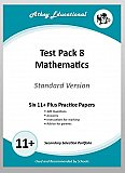 Athey Educational - 11 plus Test Pack 8 More Mathematics Practice Papers Portfolio, Standard