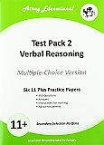 Athey Educational - 11 plus Test Pack 2 Verbal Reasoning Practice Papers Portfolio, Multiple Choice