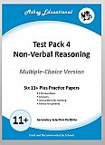 Athey Educational - 11 plus Test Pack 4 Non-Verbal Reasoning Practice Papers Portfolio, Multiple Choice