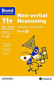 Bond 11+ Non-verbal Reasoning Standard Test Papers Pack 2