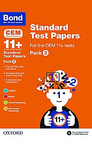 Bond 11+ Cem Standard Test Papers Pack 2