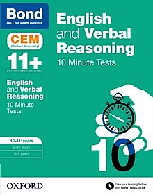 Bond - 11+ English & Verbal Reasoning: CEM 10 Minute Tests: 10-11 Years