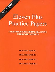 AFN Publishing - Eleven Plus Practice Papers Verbal Reasoning Papers 1-4, Multiple Choice