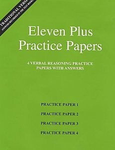 AFN Publishing - Eleven Plus Practice Papers Verbal Reasoning Papers 1-4, Standard