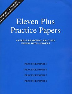 AFN Publishing - Eleven Plus Practice Papers Verbal Reasoning Papers 5-8, Standard