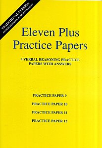 AFN Publishing - Eleven Plus Practice Papers Verbal Reasoning Papers 9-12, Standard