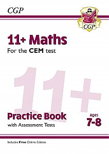 CGP - New 11+ CEM Maths Practice Book & Assessment Tests - Ages 7-8 (with Online Edition)
