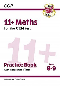 CGP - New 11+ CEM Maths Practice Book & Assessment Tests - Ages 8-9 (with Online Edition)