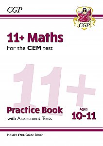 CGP - New 11+ CEM Maths Practice Book & Assessment Tests - Ages 10-11 (with Online Edition)