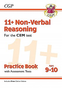 CGP - New 11+ CEM Non-Verbal Reasoning Practice Book & Assessment Tests - Ages 9-10 (with Online Edition)