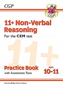 CGP - New 11+ CEM Non-Verbal Reasoning Practice Book & Assessment Tests - Ages 10-11 (with Online Edition)