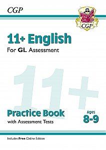 CGP 11+ English Practice Book with Assessment Tests (ages 8-9) (with Online Edition)