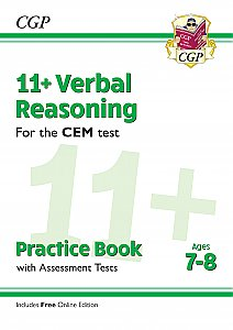CGP - New 11+ CEM Verbal Reasoning Practice Book & Assessment Tests - Ages 7-8 (with Online Edition)