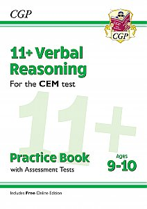 CGP - New 11+ CEM Verbal Reasoning Practice Book & Assessment Tests - Ages 9-10 (with Online Edition)