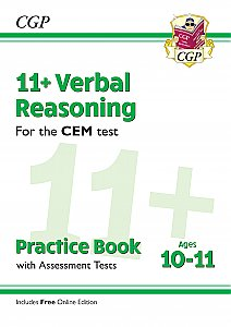 CGP - New 11+ CEM Verbal Reasoning Practice Book & Assessment Tests - Ages 10-11 (with Online Edition)