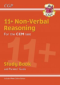 CGP - New 11+ CEM Non-Verbal Reasoning Study Book (with Parents' Guide & Online Edition)