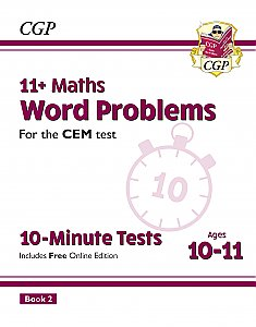 CGP - New 11+ CEM 10-Minute Tests: Maths Word Problems - Ages 10-11 Book 2 (with Online Edition)