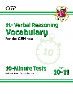 CGP - New 11+ CEM 10-Minute Tests: Verbal Reasoning Vocabulary - Ages 10-11 (with Online Edition)