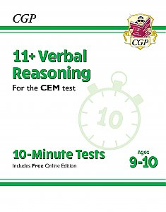 CGP - New 11+ CEM 10-Minute Tests: Verbal Reasoning - Ages 9-10 (with Online Edition)