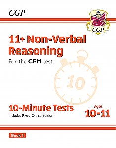CGP - New 11+ CEM 10-Minute Tests: Non-Verbal Reasoning - Ages 10-11 Book 1 (with Online Edition)