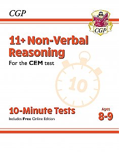 CGP - New 11+ CEM 10-Minute Tests: Non-Verbal Reasoning - Ages 8-9 (with Online Edition)
