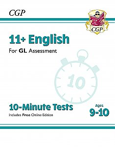 CGP - New 11+ GL 10-Minute Tests: English - Ages 9-10 (with Online Edition)
