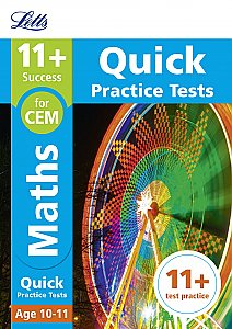 Letts - 11+ Maths Quick Practice Tests Age 10-11 For The Cem Tests