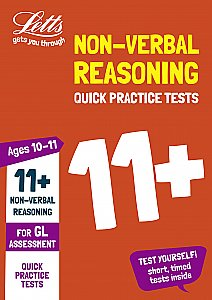 Letts - 11+ Non-Verbal Reasoning Quick Practice Tests Age 10-11 For The Gl Assessment Tests